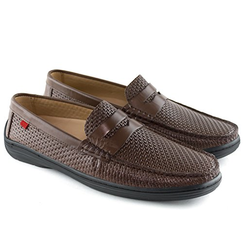 Leather New Style Leather Brown Joseph Loafer Marc Basket Atlantic Driving Mens York BF7nwHq