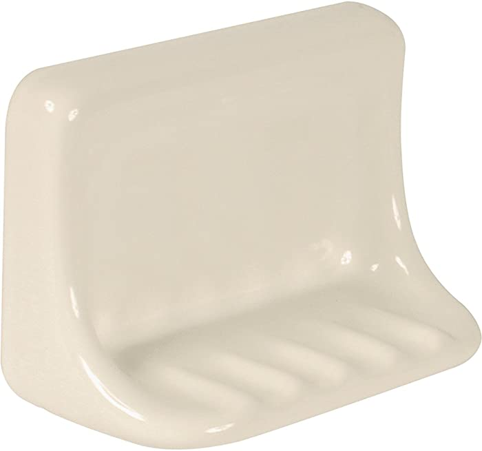 Apple Creek Ceramic Bathroom Soap Dish, 7 inch, Bone