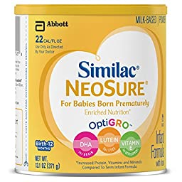 Similac NeoSure Infant Formula with Iron, Powder, 13.1 Ounces (Pack of 6)