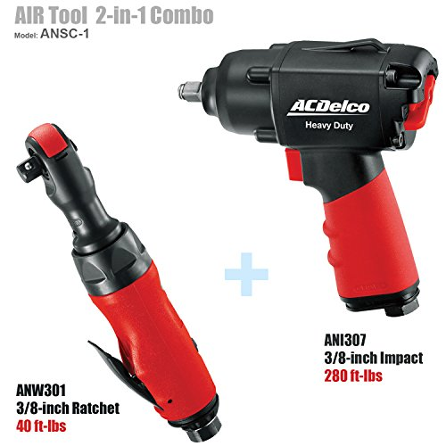 ACDelco BLOW-OUT OFFER! AIR Tool Combo- 3/8'' Impact with 3/8'' Ratchet, ANSC-1 by ACDelco (Image #9)