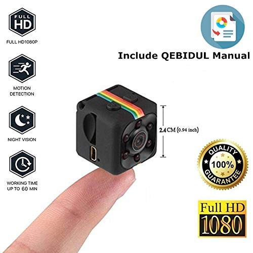 Mini Wireless Hidden Spy Camera Secret Micro Security Cameras for Indoor or Outdoor Surveillance Home Office or Car Video Recorder with 1080p HD Recording and Night Vision 1 Cubic Inch (Polaroid Sports Camera)