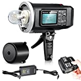 Neewer® 600W GN87 HSS Outdoor Flash Strobe Light for Canon DSLR Camera,with 2.4G Wireless Trigger&8700mAh Battery to Provide 500 Full Power Flashes Recycle in 0.01-2.5s Bowen Mount (NW600BM)