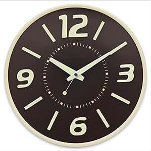 H&M Reloj de pared creativa 3d noche resplandor moderno metal silencioso reloj de moda de gama