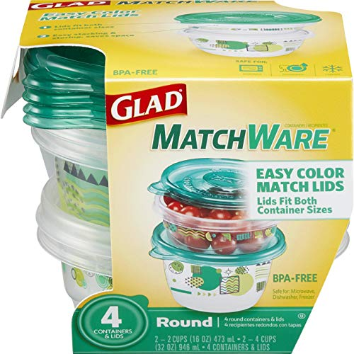 Glad Food Storage Containers - Glad MatchWare Round Containe