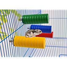 Wooden Playground Perch for Syrian Hamster Gerbil Rat Mouse Chinchillas Guinea Pig Squirrel Small Animal House Cage Toy 1 Pcs Random Color