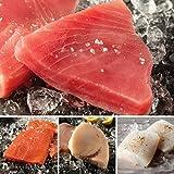 Omaha Steaks Ocean's Bounty Sampler (8-Piece with Yellowfin Tuna Steaks, Wild Salmon Fillets, Icelandic Cod Fillets, and Swordfish Steaks)