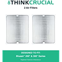 2 Replacements for Blueair Deluxe 200/300 Series Air Purifier Filter W/ Built-In Odor Neutralizing Particle Pre-Filter, Fits ALL 200 & 300 Series Air Purifiers, by Think Crucial