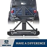 #10: Hooke Road 1987-2006 Jeep Wrangler TJ YJ Rear Bumper w/Tire Carrier & 2