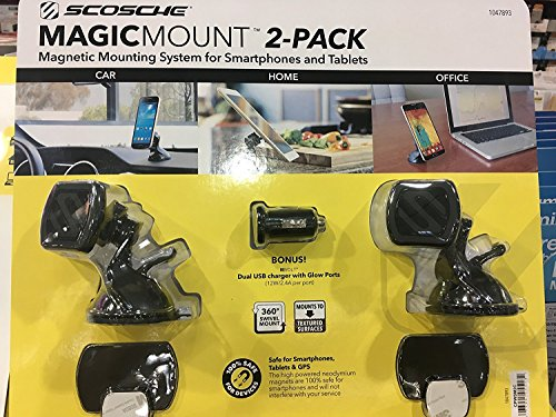 - Scosche magic mount magnetic phone mount