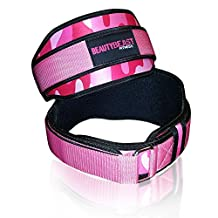 Women's 4-inch Pink Camouflage Weight Lifting Belt (X-Small)