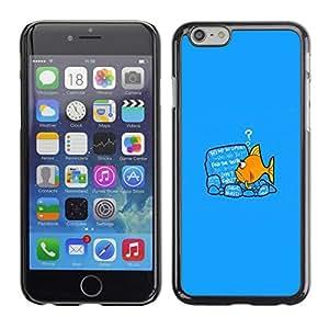 // PHONE CASE GIFT // Duro Estuche protector PC Cáscara Plástico Carcasa Funda Hard Protective Case for Apple Iphone 6 Plus 5.5 / Reading Fish /