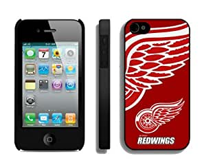 Amazing Iphone 4/4s Case NHL Detroit Red Wings 1 Phone Hard Cover Cheap