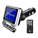 FM Modulator for Car, Autoday FM Bluetooth Transmitter Wireless Radio Adapter USB Charger Audio Receiver Stereo Music Tuner Modulator Car Kit, Remote Control