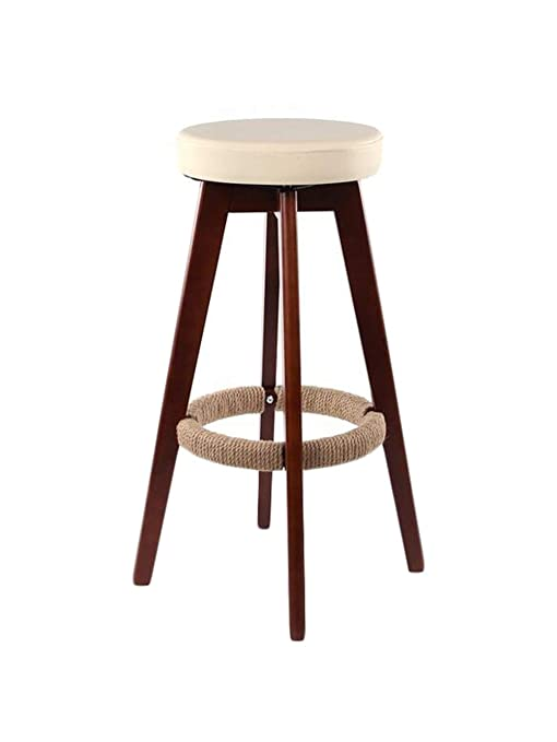 Groovy Amazon Com Barstoolri Rotating Bar Stool White Round Seat Pabps2019 Chair Design Images Pabps2019Com