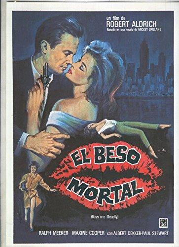 Caratula cine: El beso mortal con Ralph Meeker y Maxine ...