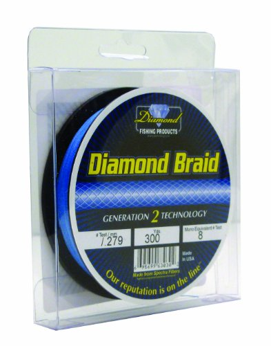 - Momoi 63050 300-Yard Diamond Braid, 50-Pound, Brilliant Blue