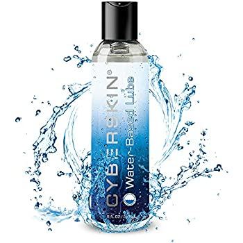 Cyberskin Natural Personal Lubricant, Water Based Lube-8 Fl.oz, Super Slick-Long Lasting-Free of Parabens-Sensitive Skin Friendly, Premium Lube for Men, Women and Couples