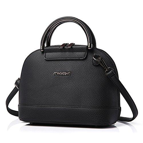 VINICIO Women's Exquisite Joker Simple PU Leather Shell Bag Shoulder - Sales Froday Black
