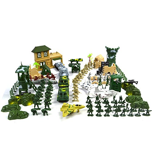 Army Men Playsets - EASYWAY Force Battle Soldiers Playset, Army Men Modern Warfare Action Figures 300 Piece of Current Military, Toy Tanks, Planes, Flags, Soldier Figures, Grid & Accessories