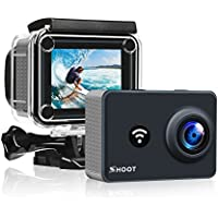 D&F T31 4K WiFi Sport Camera 14MP 7G HD Monitor with 2.4G Remote Controller and Action Camera Accessories Kit