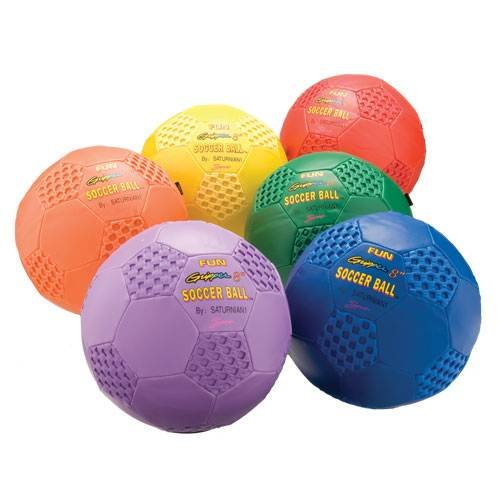 Fun Gripper 8'' Soccer balls - Set of 6