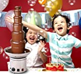 110v 6-Tier Electric Chocolate Fondue Fountain Stainless Steel Party Home