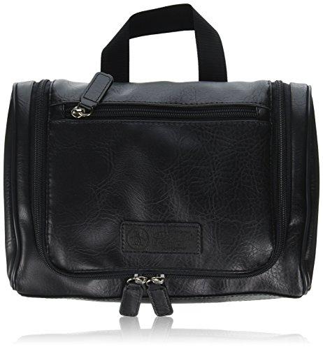 Penguin Munsingwear Men's Hanging Toiletry Travel Shave Kit Case Bag Black