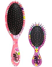 Wet Brush Original and Mini Hair Brush Combo - Fantasy and Smiley Pineapple - Ultra-soft IntelliFlex Bristles - Glide Through Tangles With Ease For All Hair Types - For Women, Men, Wet And Dry Hair