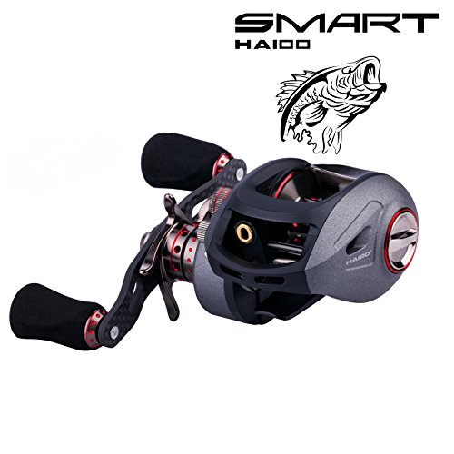 Tuna Rod And Reel (Baitcasting Reels, Low Profile Baitcaster Reels Apply to Bass Fishing Reels Ultralight Freshwater Baitcast Reel Saltwater Inshore Kayak Boat Jigging Trout Fishing Rods and Reels Combos Left Handle 201)