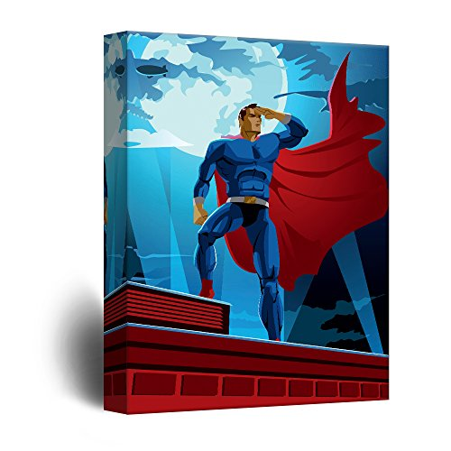 Superhero Heroic Comic Illustration Pop Art