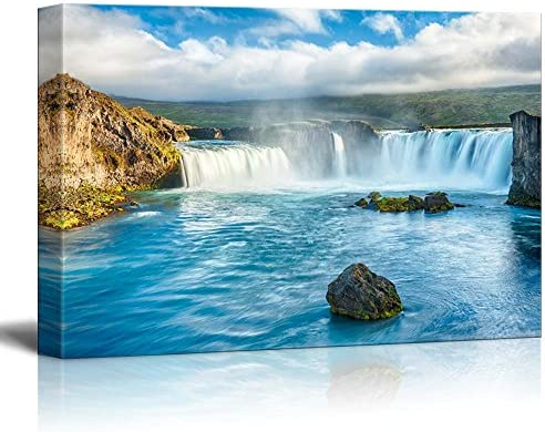 Beautiful Scenery Landscape Icelandic Waterfall Godafoss Home Deoration Wall Decor
