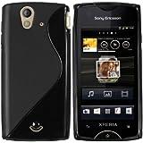Mumbi - Carcasa de silicona y TPU para Sony Ericsson Xperia ray, color negro