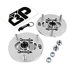 BlackPath - 318 + 325 + 328 + M3 Adjustable Front Camber Plate Kit BMW Suspension (Silver) T6 Billet
