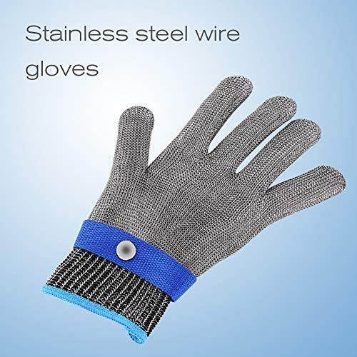 ZealMax Guante resistente al corte, alambre de acero ...