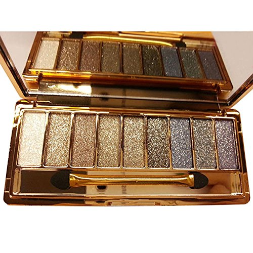 Legros8 9 colors Waterproof Makeup Eyeshadow Glitter Palette with Brush