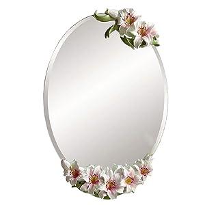 LIHY Miroir de Maquillage- Miroir Mural de vanité, décoration de Salle de Bains imperméable et respectueuse de l'environnement, Miroir créatif européen Moderne Minimaliste (Couleur : Pink)