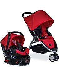 (新品) 百代适Britax B-Agile 3/B-Safe宝宝手推车+安全座椅旅行组合款,红特价$329.99