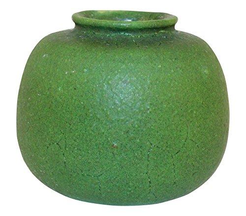 Grueby Pottery Matte Green Bulbous Vase