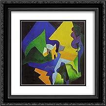 Enrico Prampolini 2x Matted 20x20 Black Ornate Framed Art Print 'Costruzione spaziale - paesaggio '