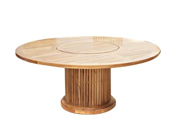 Table de jardin ronde Dining de table de jardin Table 200 cm plateau ...