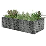 Anself Gabion Planter Galvanised Steel 180 x 90 x 50 cm