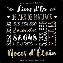 Livre Dor 10 Ans De Mariage Décoration Pour La Fête Du