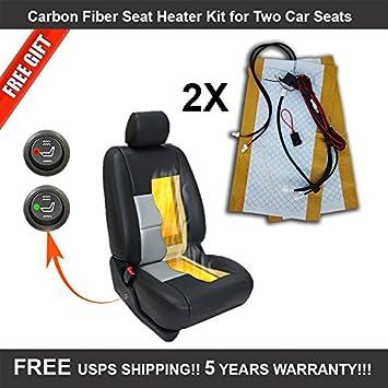 Amazon.com: Carbon Fiber Universal Heated Seat Heater Kit for car ...