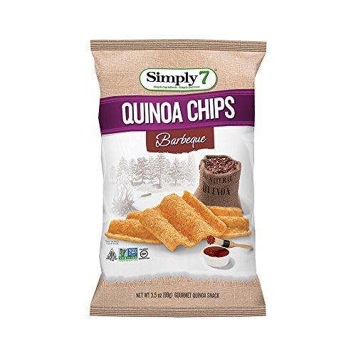 Simply7 Gluten Free Quinoa Chips, Barbeque, 3.5 Ounce (Pack of 12)