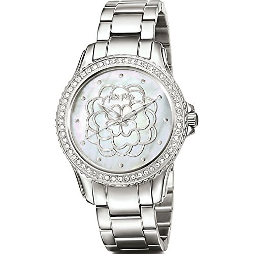 Señoras brazalete Folli Follie Santorini flores reloj 6010.2084: Amazon.es: Relojes