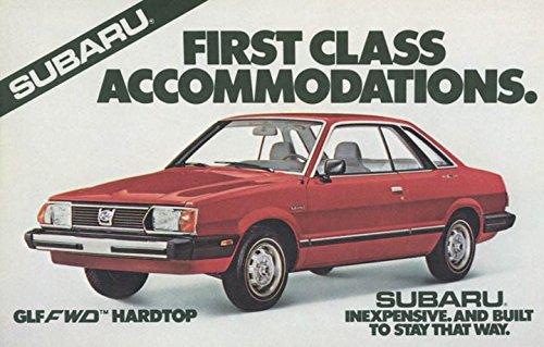 Hardtop Subaru (1981 Subaru GLF Hardtop ORIGINAL Factory Postcard)