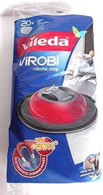 Vileda 136133 Virobi - Toallitas de repuesto para robot aspirador Virobi