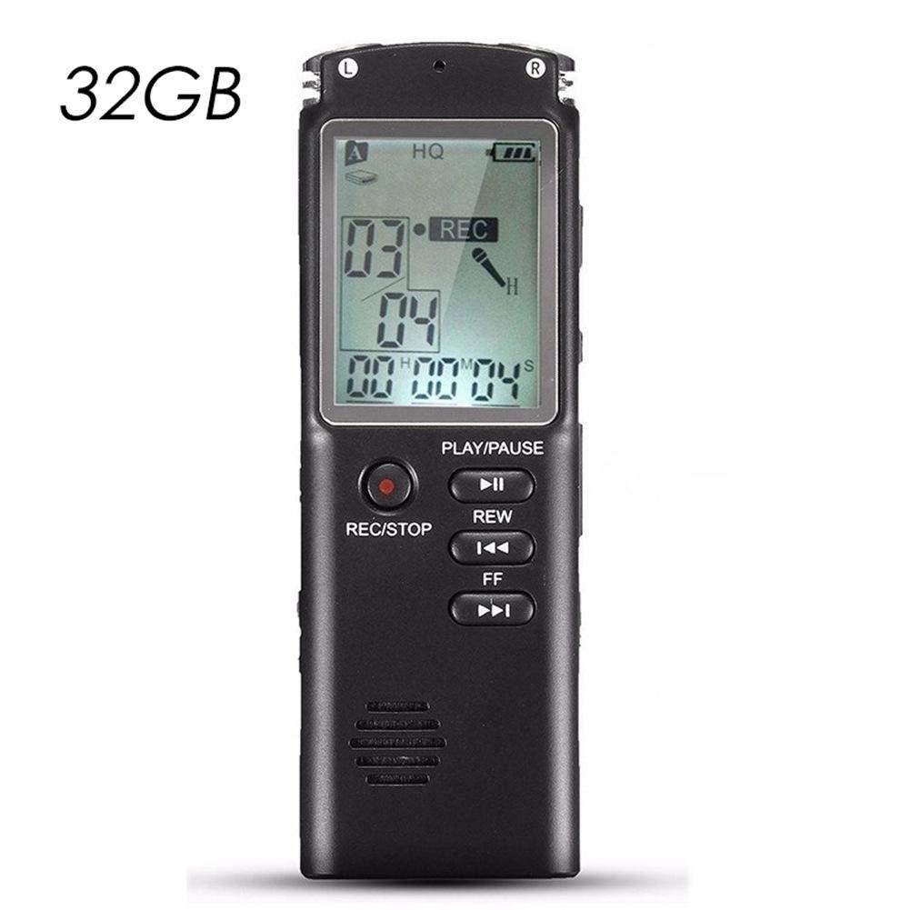 Dubleir Dictaphone Num/érique Enregistreur 8 GO Professionnel Rechargeable Enregistreur Audio Vocal Multifonctionnel Portable LCD Ecran MP3 Player Dictaphone pour Conf/érence
