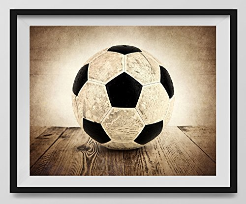 vintage soccer ball on vintage background fine art photography print