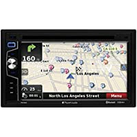 Planet Audio PNV9650 Double Din, Touchscreen, Bluetooth, Navigation, DVD/CD/MP3/USB/SD AM/FM Car Stereo, 6.5 Inch Digital LCD Monitor, Wireless Remote